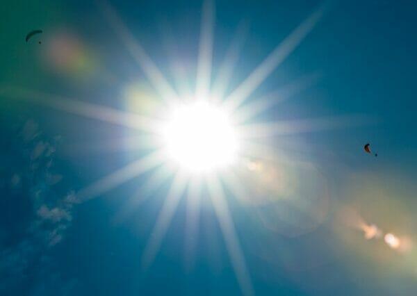 parapendio e sole
