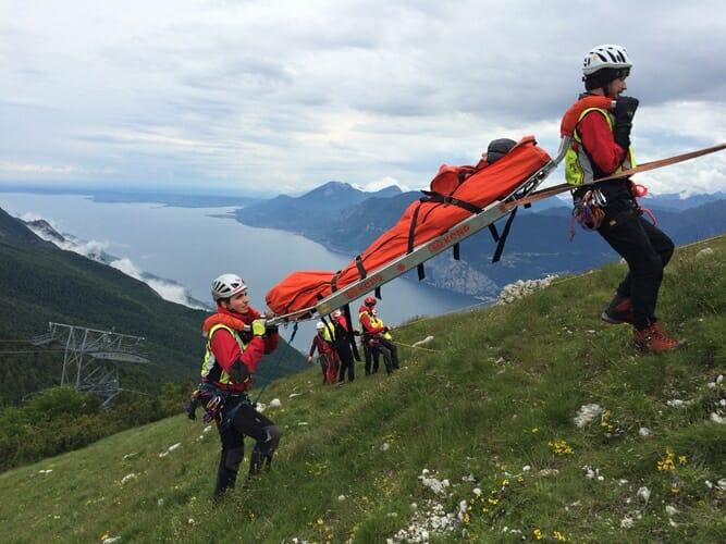 soccorso alpino sul monte baldo