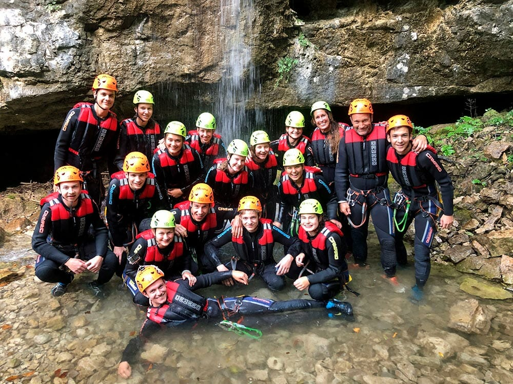 MMove canyoning gruppe
