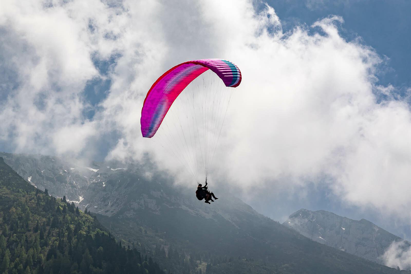 tandem flight on monte baldo