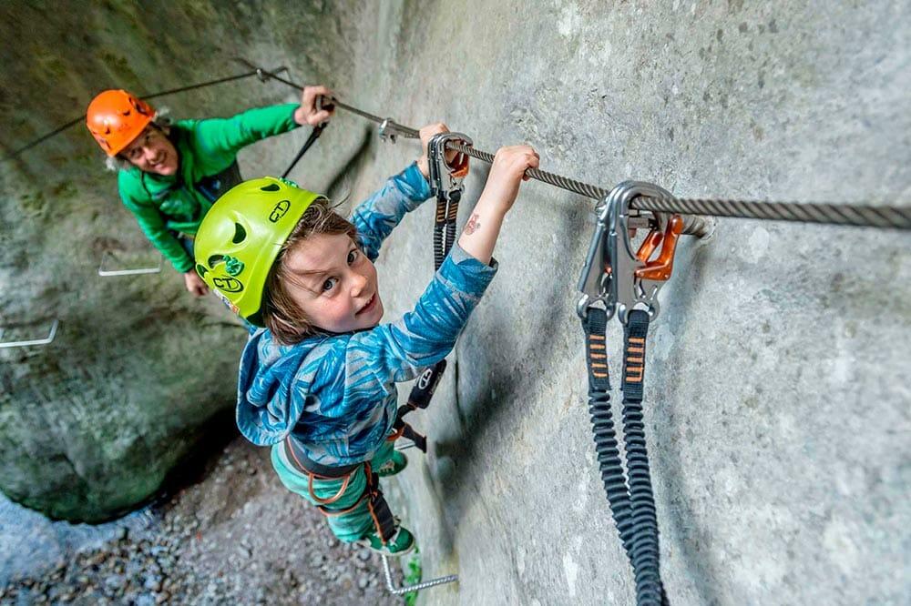 Klettersteig fuer Kinder