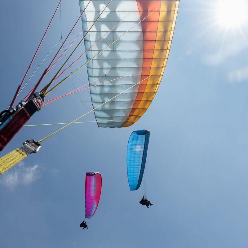 volo biposto di gruppo al Lago di garda
