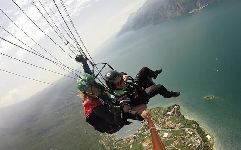 Foto dal parapendio sul Lago di Garda