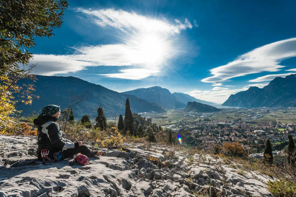 Punto panoramico alla fine della via ferrata del monte colodri