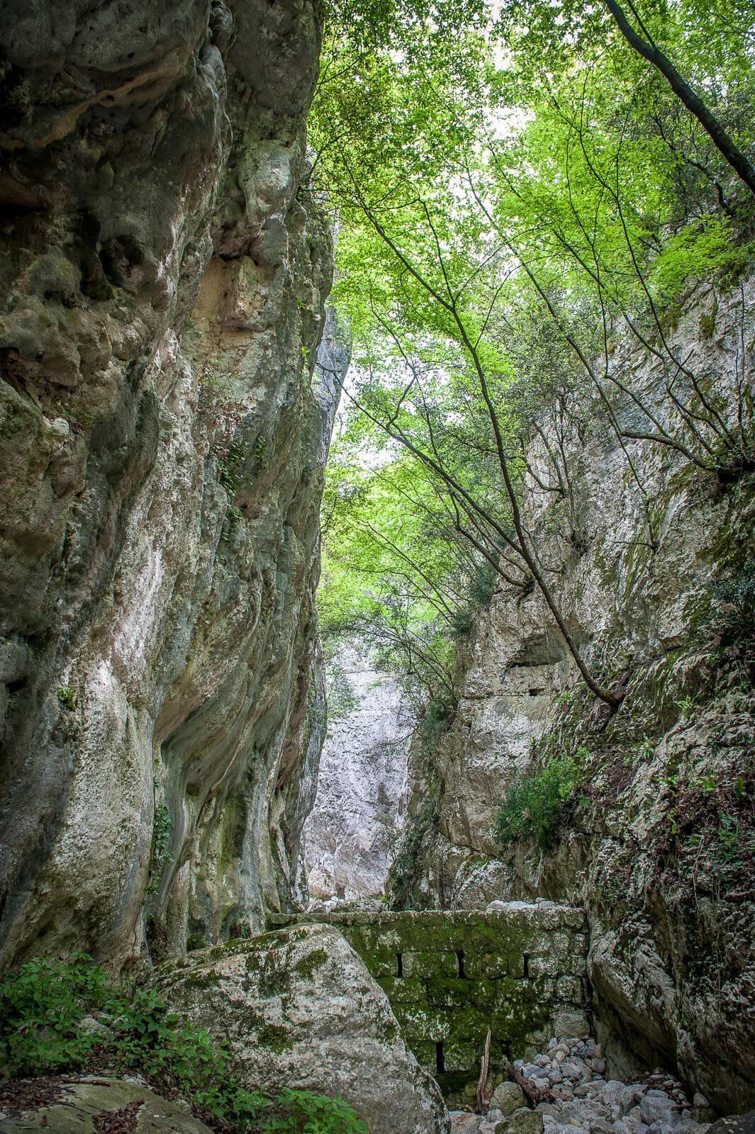 entrata sentiero per il balot tacà via