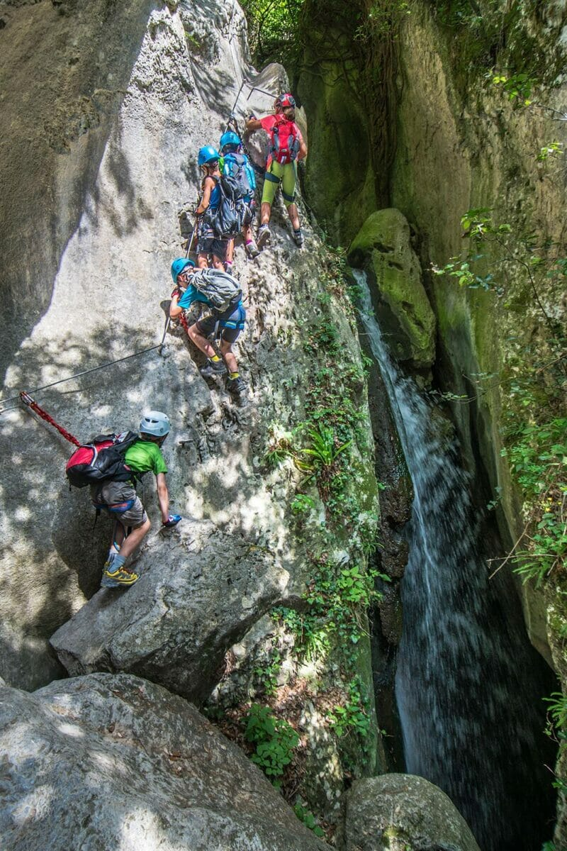 via ferrata rio sallagoni arco mountain guide