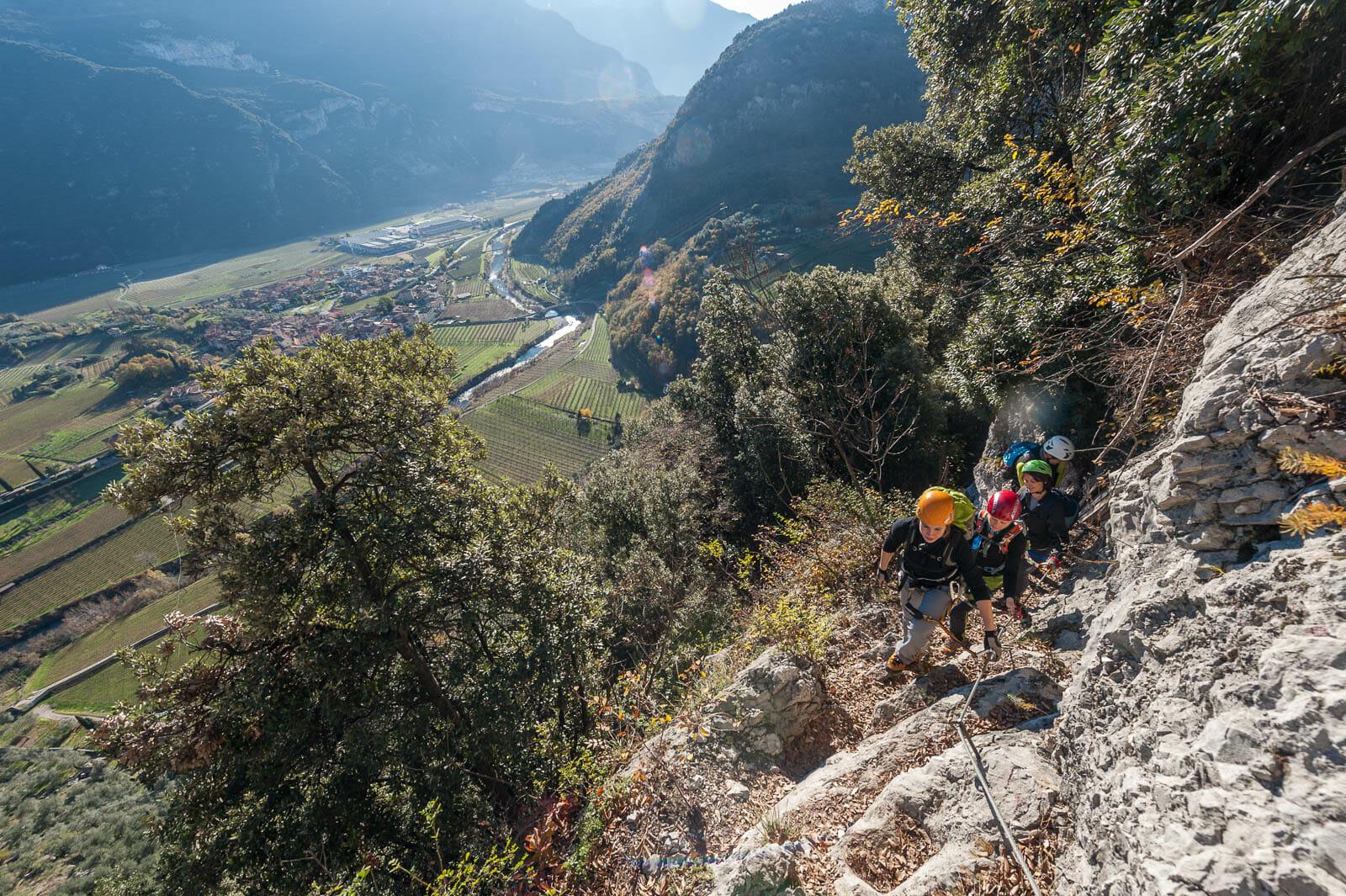 Klettersteig sentiero degli scaloni start