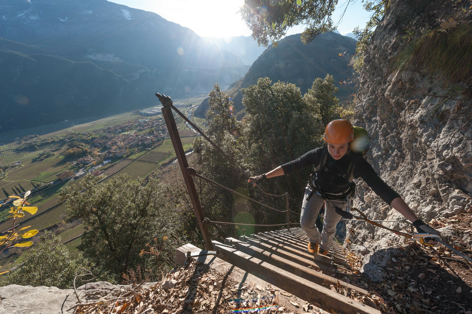 Klettersteig sentiero degli scaloni stufe