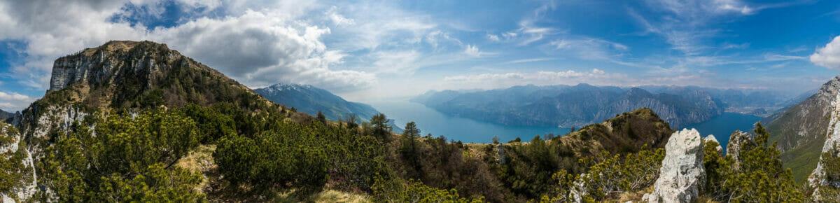 panoramica monte baldo e lago di garda