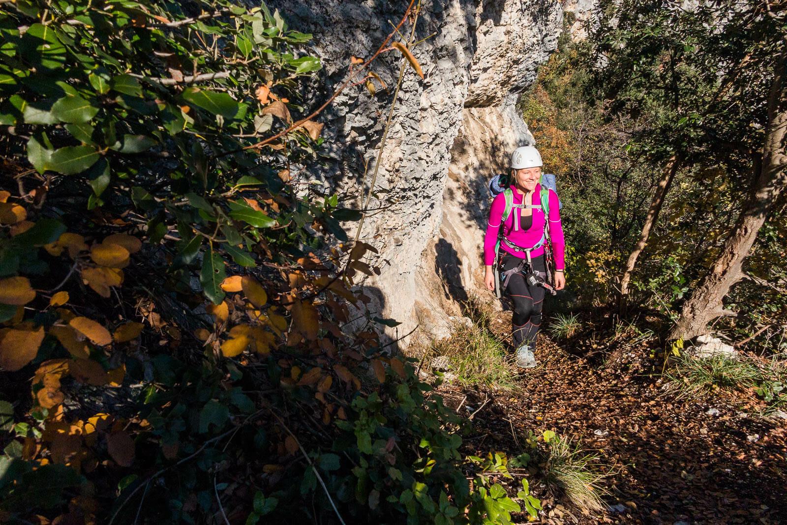 easy equipped path Sentiero degli scaloni