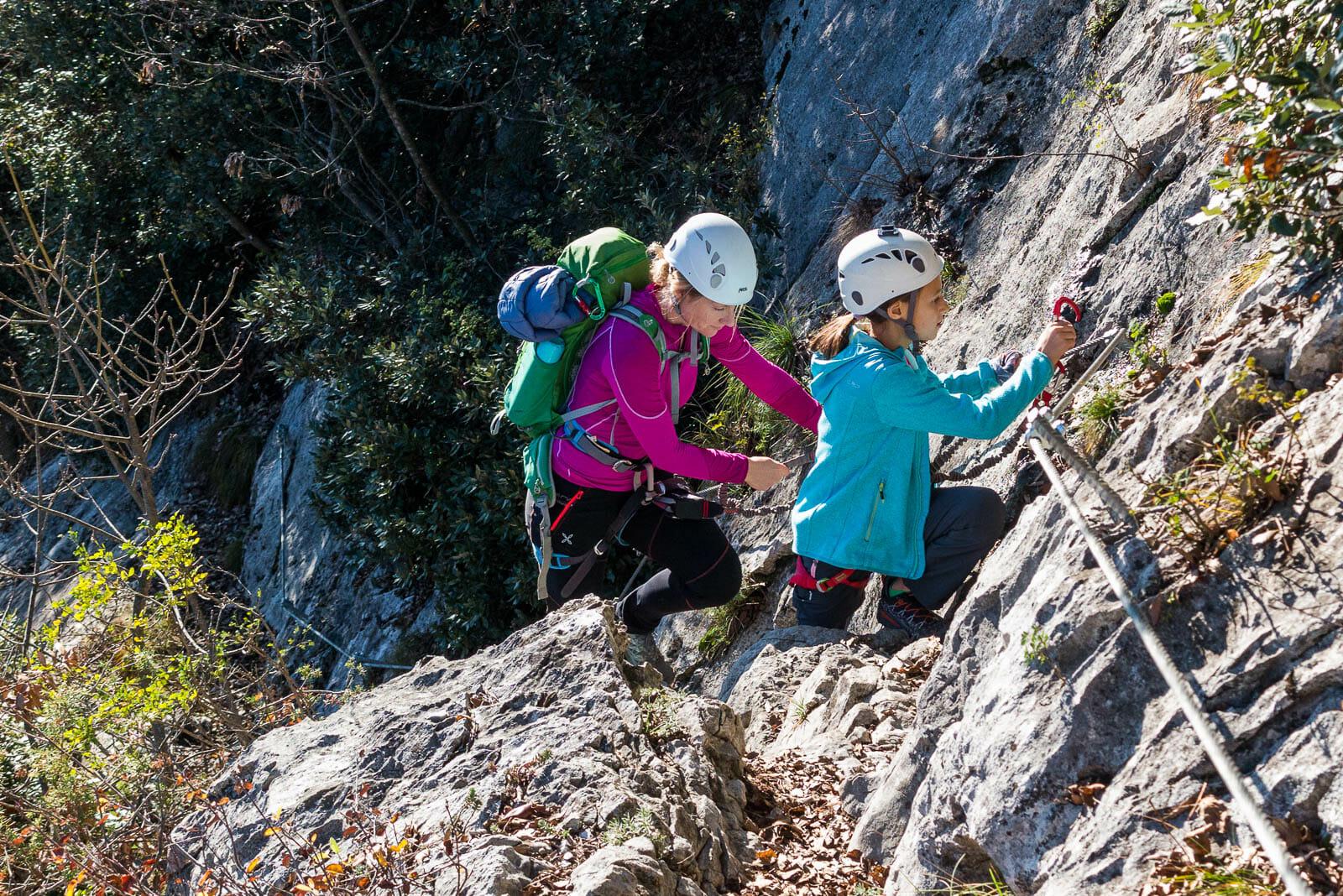 Klettersteig sentiero degli scaloni aufestieg