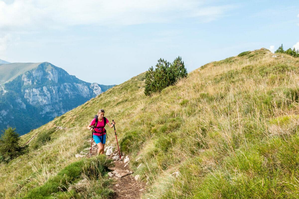 sentiero cai651 in salita sul monte altissimo