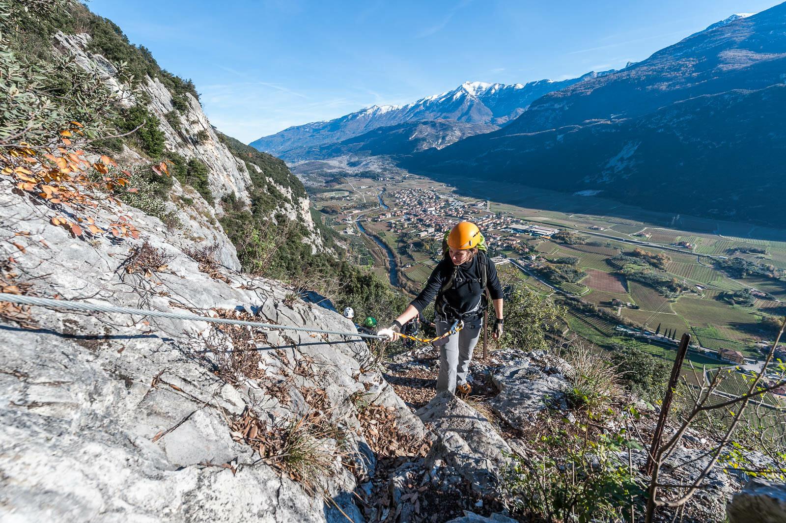 Klettersteig sentiero degli scaloni mit panorama