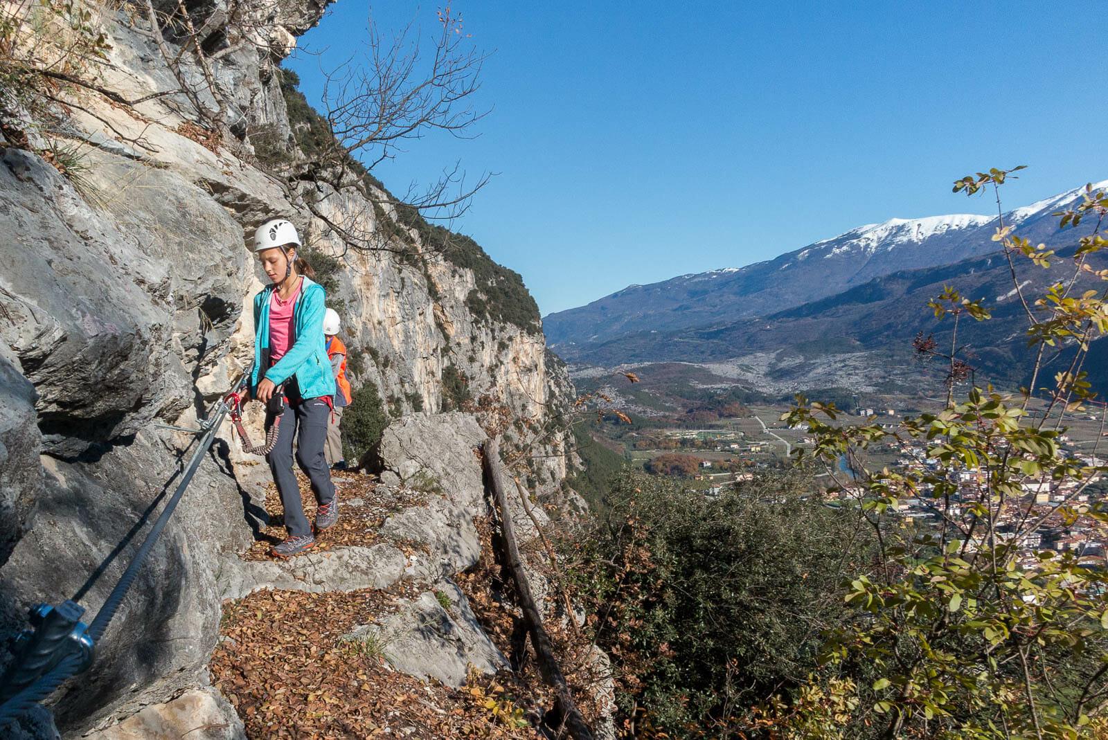 Klettersteig sentiero degli scaloni und sarcatal