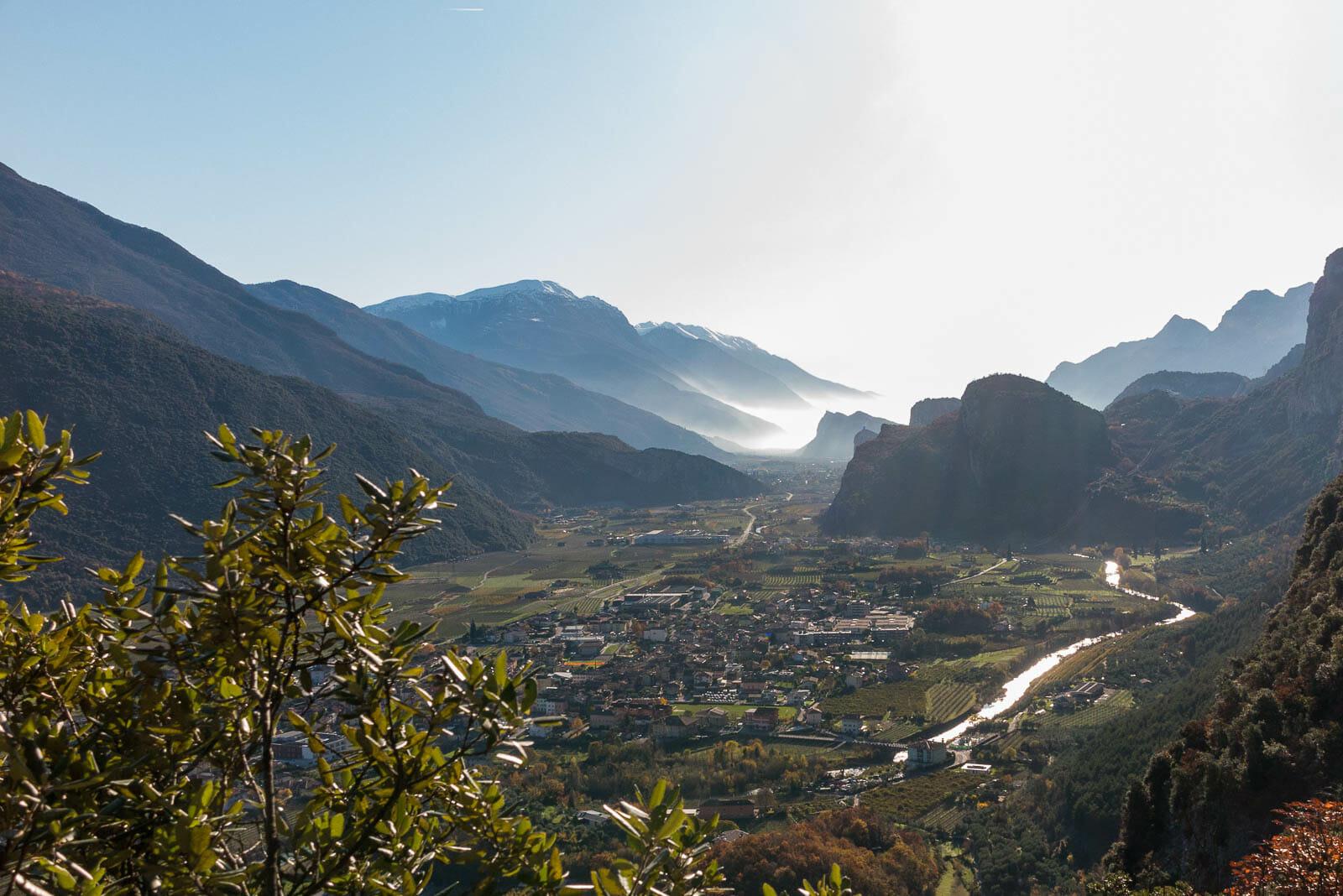 Klettersteig sentiero degli scaloni ausblick