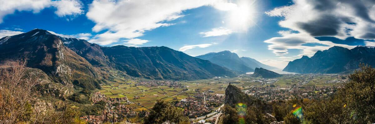 foto panoramica dal monte colodri