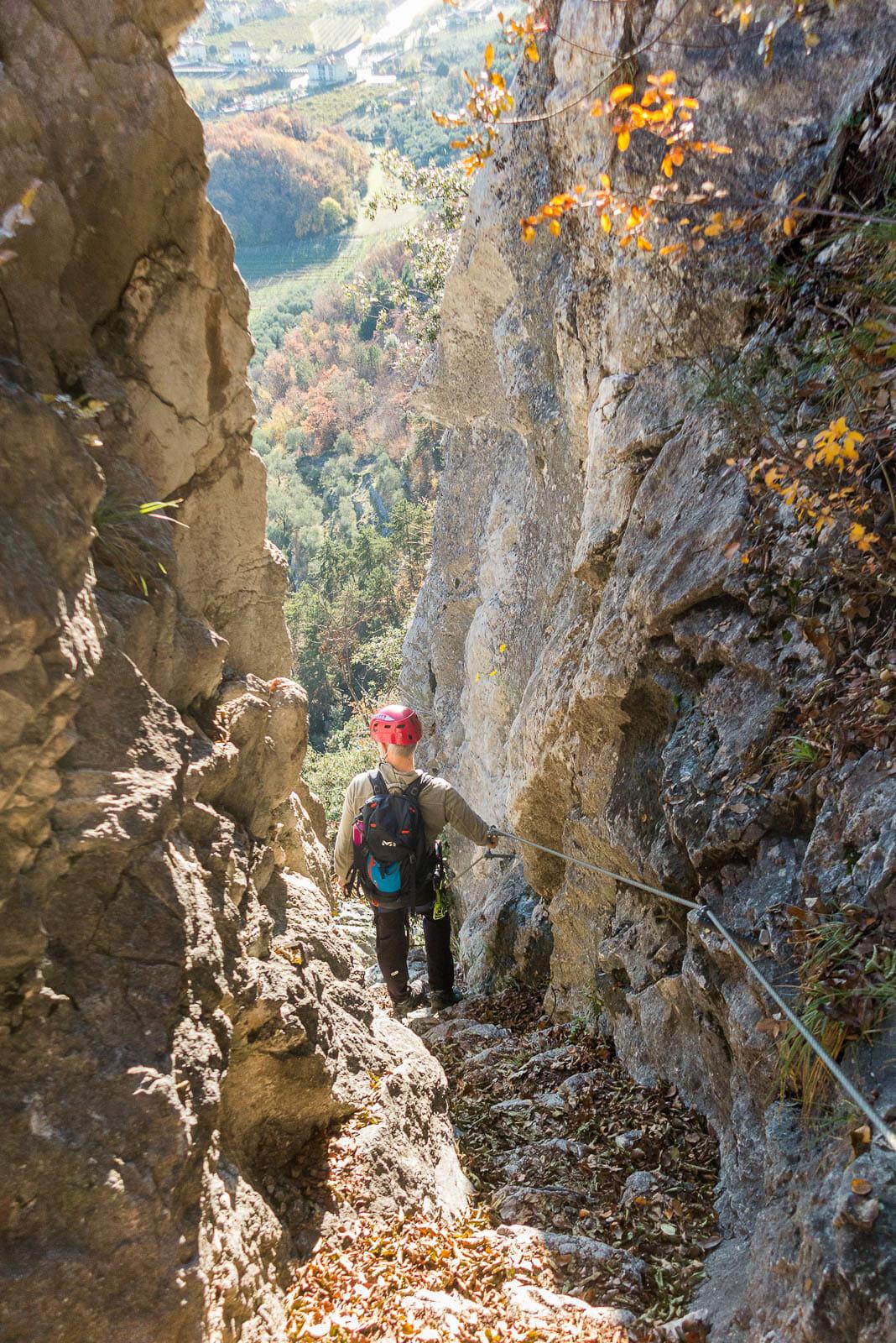 equipped path Sentiero degli scaloni downhill