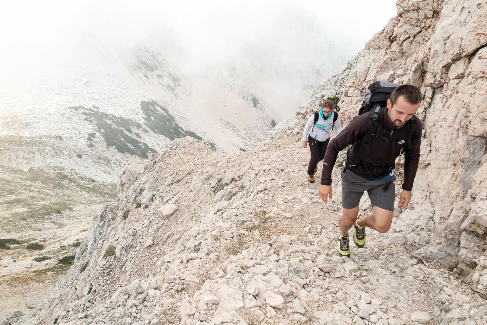 ascent to valdritta peak