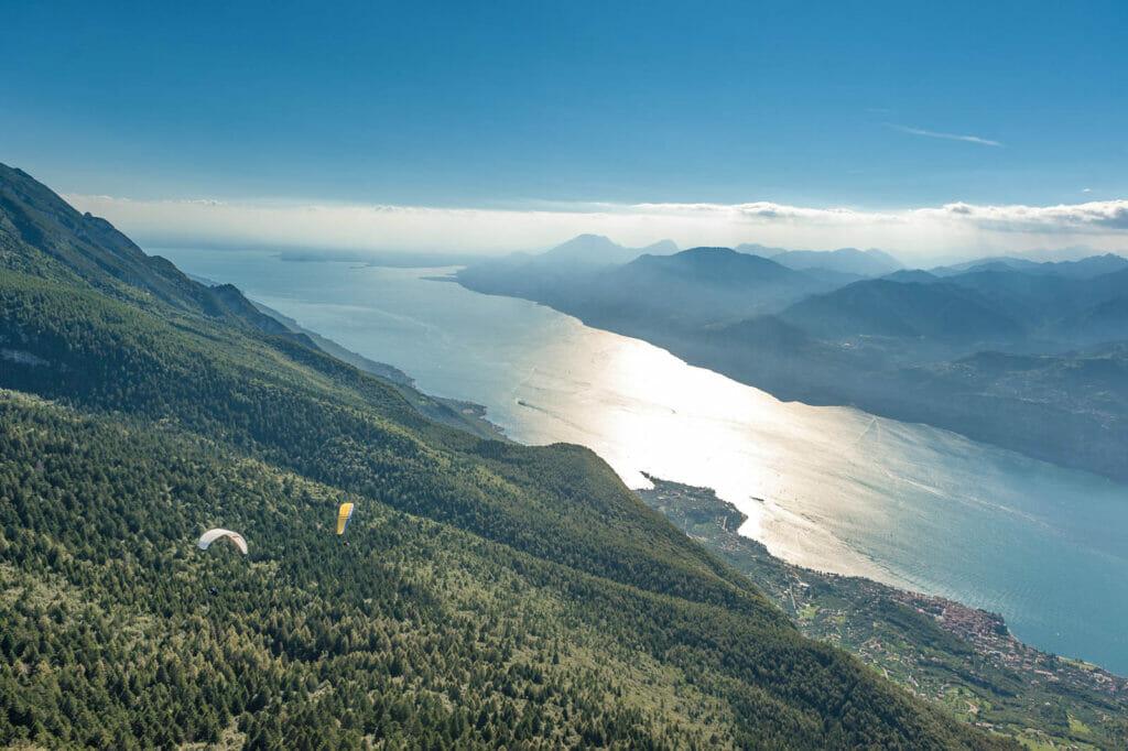 Paragliding Tandemflug von Monte Baldo am Gardasee