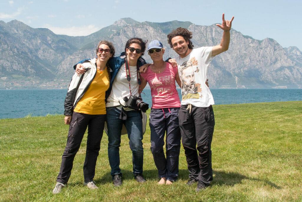 Il team di 360gardalife e Angelika di Garda Air Style