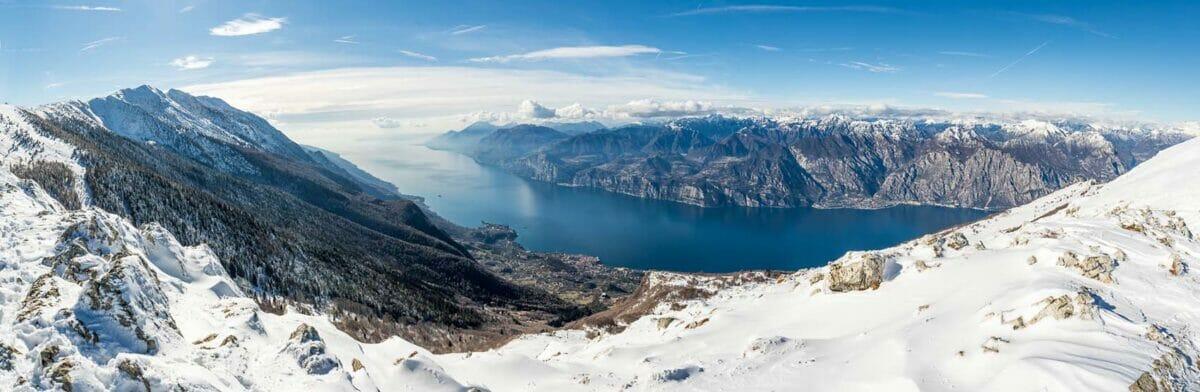 monte baldo vista lago neve