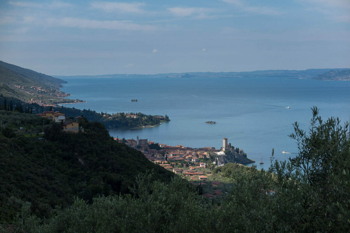 panoramic view from mule track vacco in malcesine