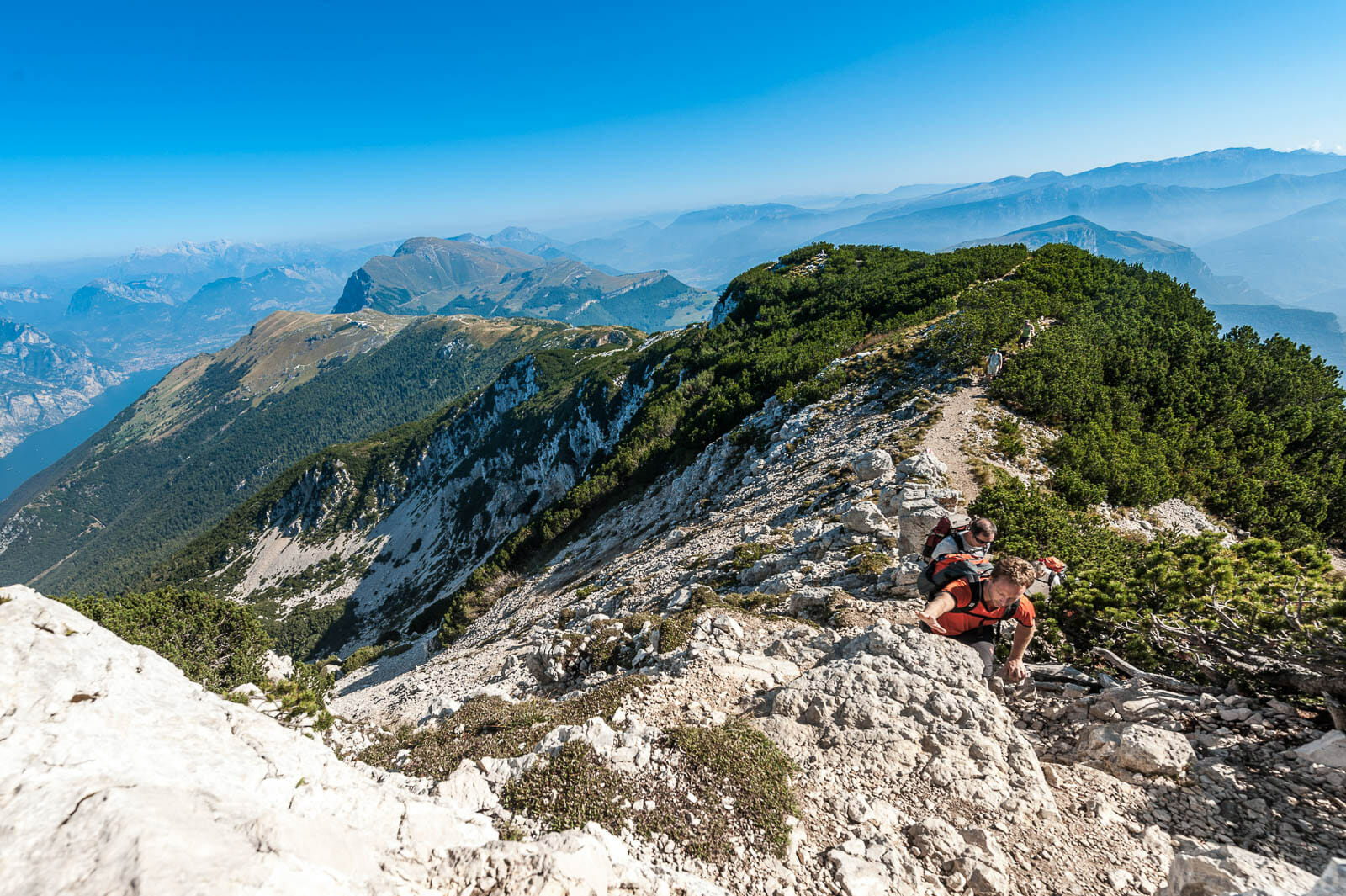 monte baldo peaks trekking route to cima pozzette