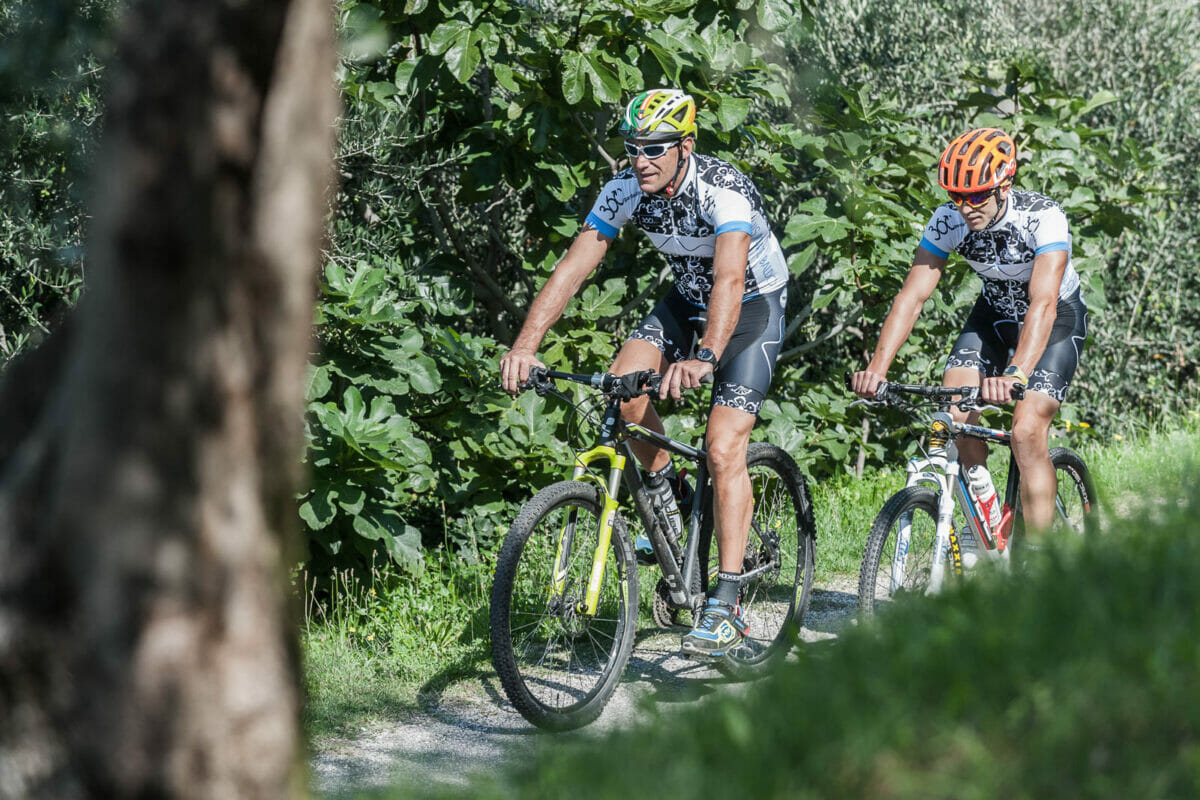 biking on the via panoramica