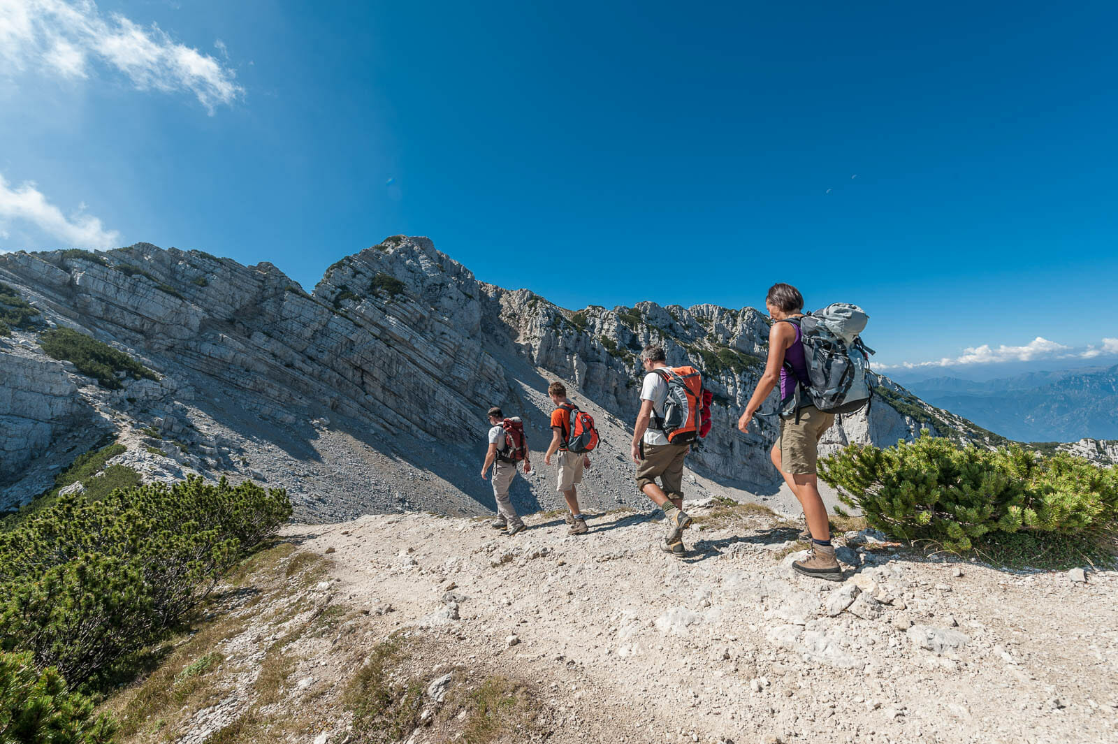 monte baldo peaks trekking route to cima del longino