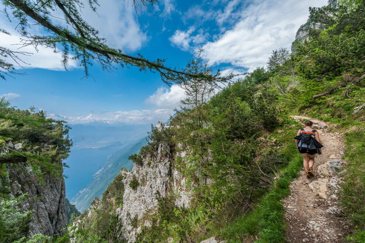 Ventrar Strecke auf den Monte Baldo