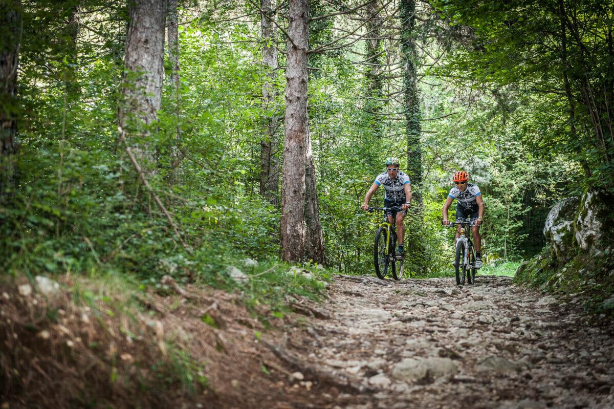 bike trail in san michele