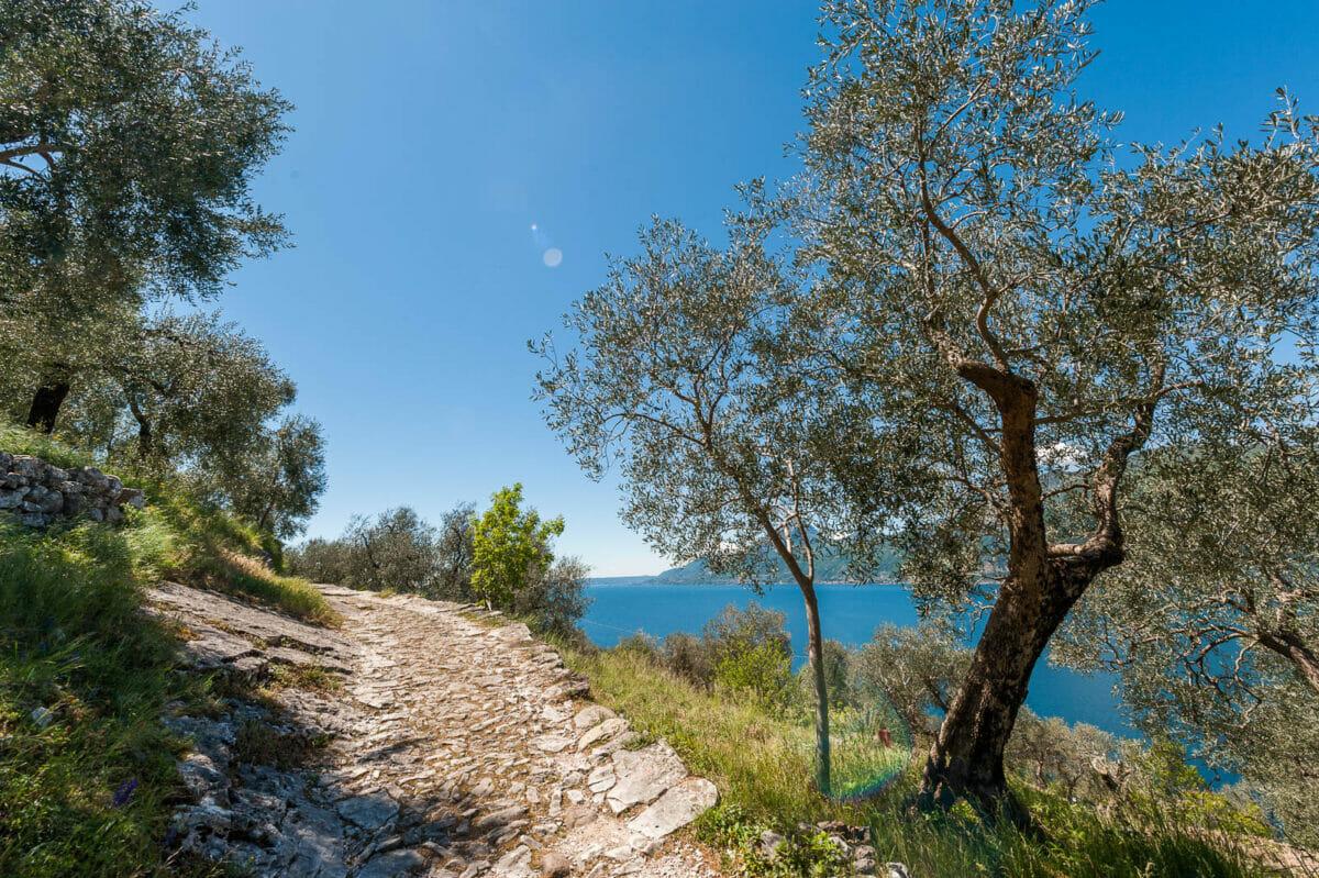 Weg nach Campo: Brenzone Weilern am Gardasee