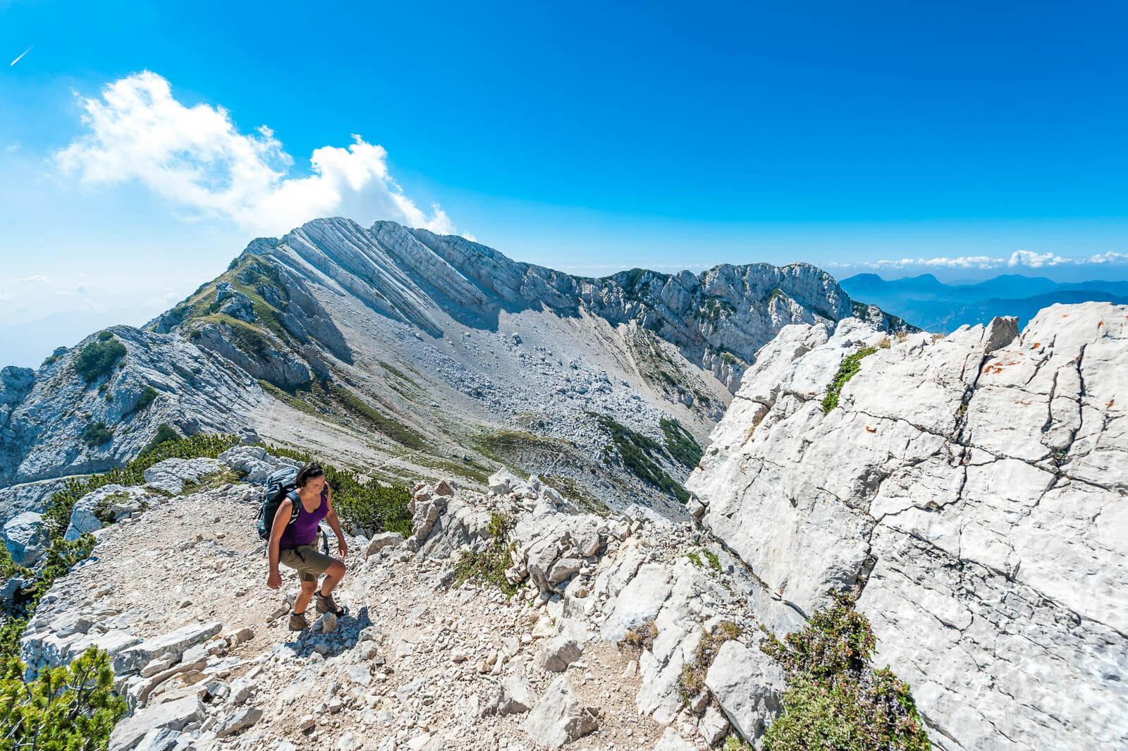 monte baldo peaks trekking route to cima valdritta