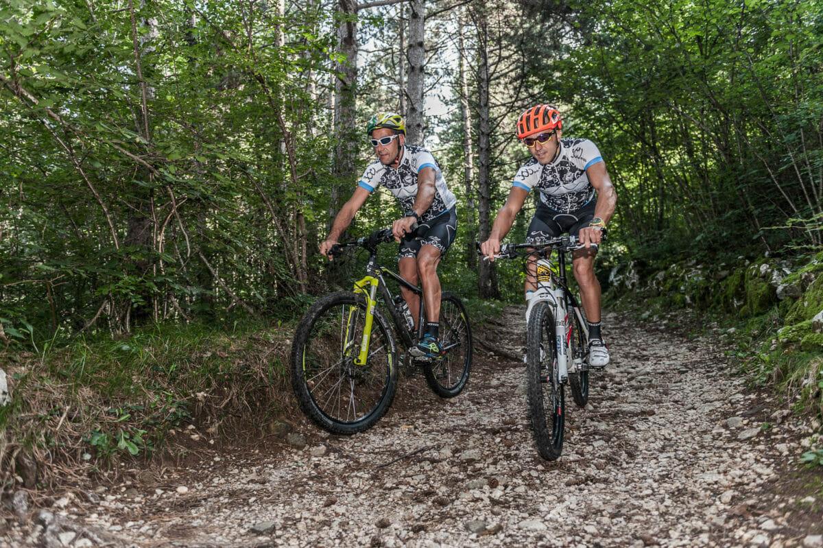 downhill bike trail in san michele