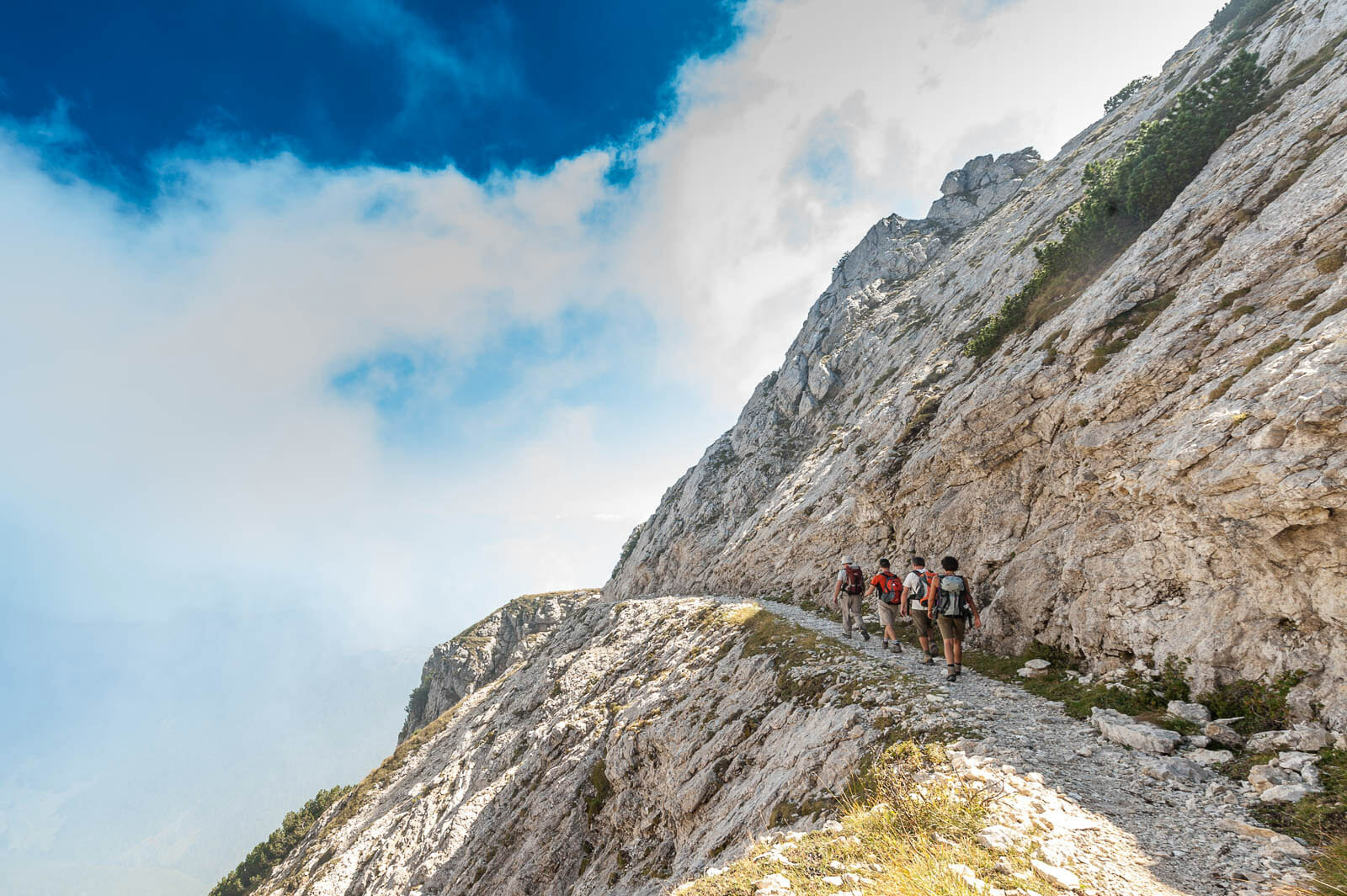 monte baldo peaks trekking route to cima telegrafo