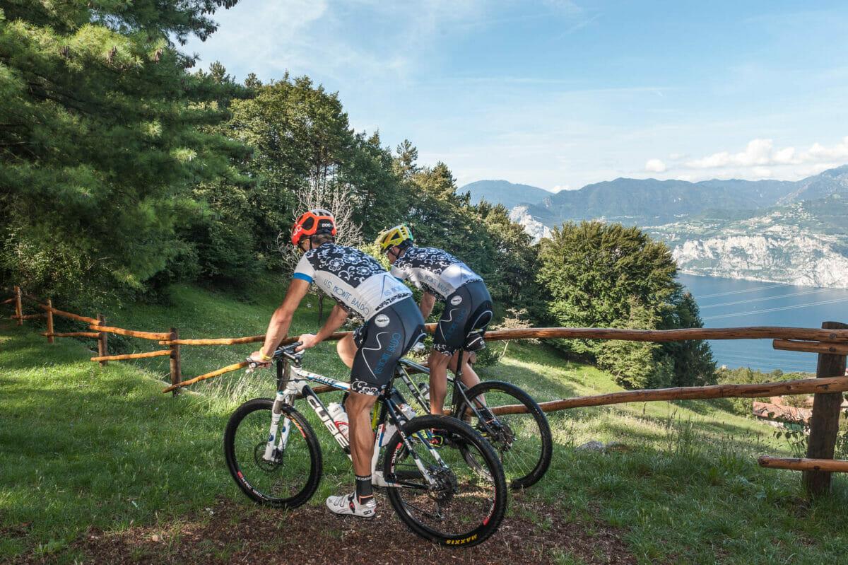 biking in san michele on monte baldo