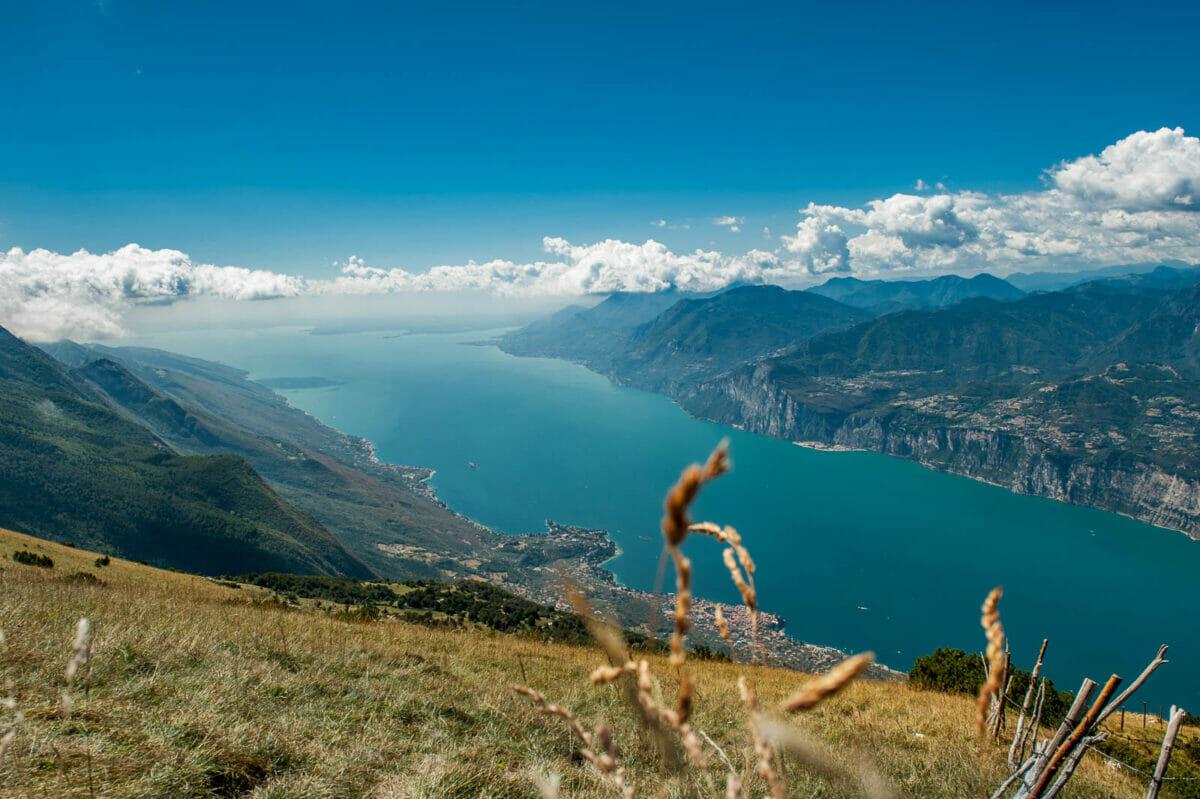 Panorama uber Gardasee sud