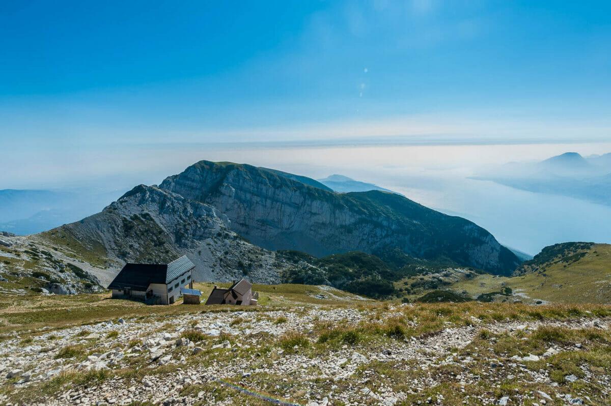 Cima telegrafo mit Berg hutte