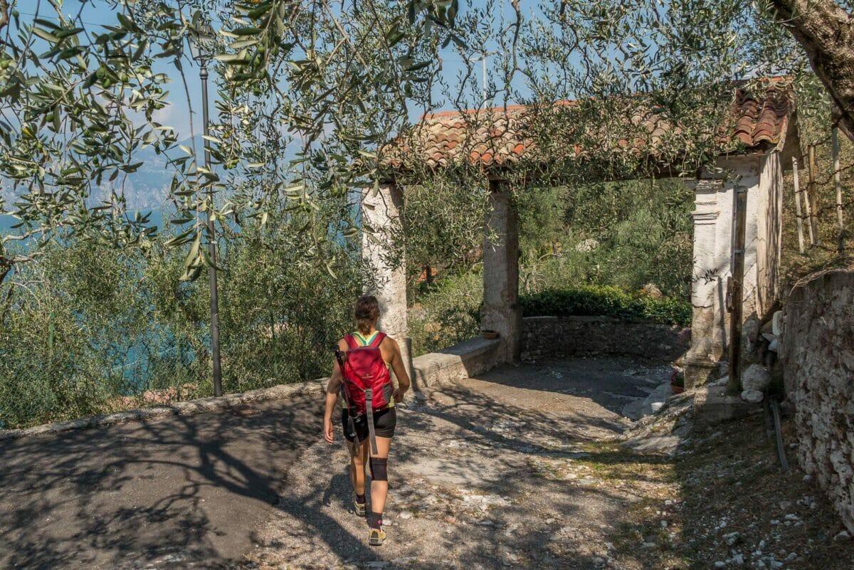 Wandern nach Castello di Brenzone