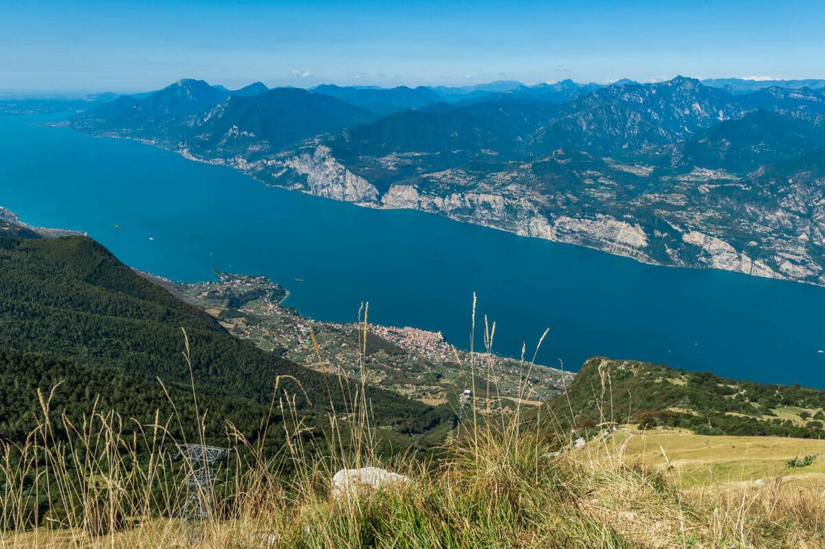 Monte Baldo abstieg mit Seeblick