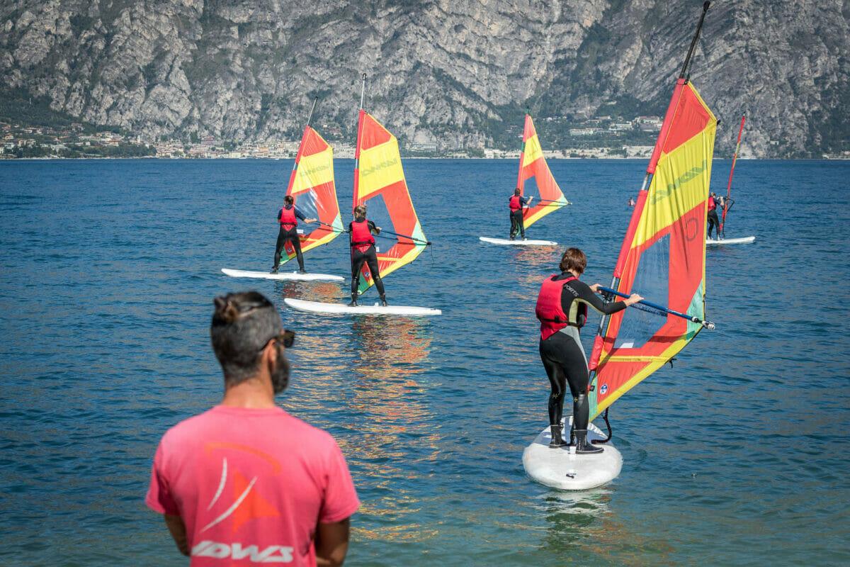 corso di windsurf alla scuola wwwindsquare malcesine