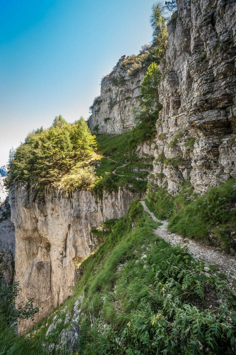 Monte Baldo abstieg entlang ventrar