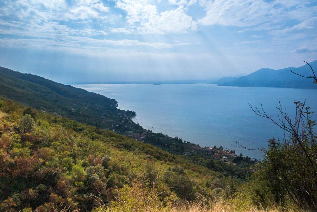 panoramic view garda lake