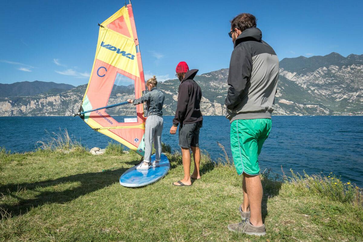 prove di windsurf al simulatore