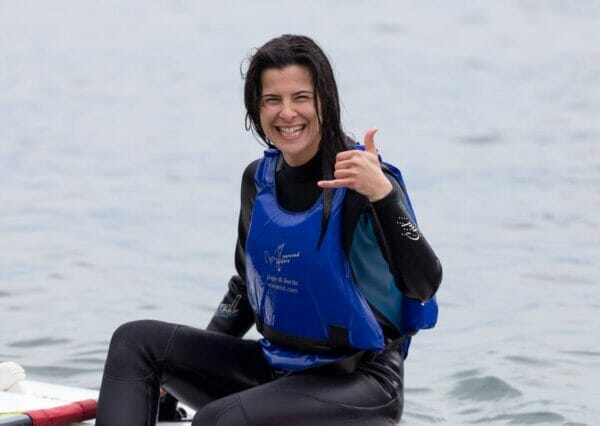 happy windsurf student