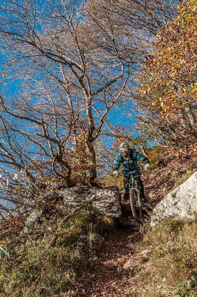 mtb freeride on monte baldo trail