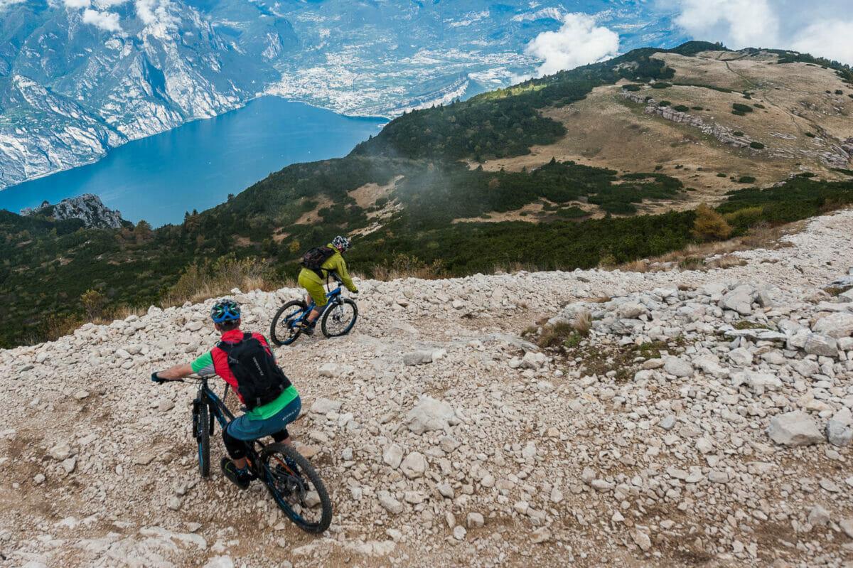 enduro bike route at lake garda