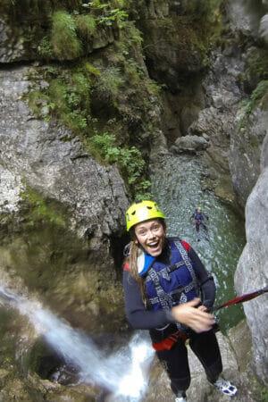 descent into the canyon rio nero