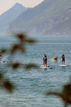 sup course at wwwind square malcesine lake garda
