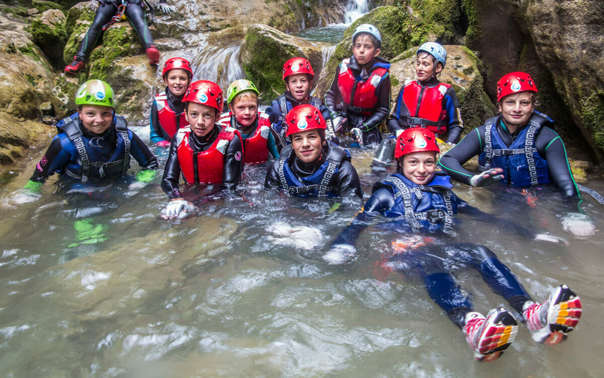 canyoning per ragazzi